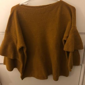 Mustard Madewell bell sleeve sweater